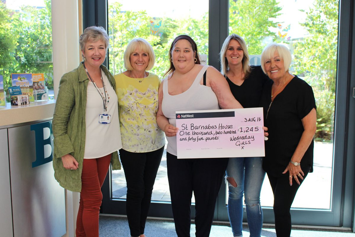 2-Cheque-presentation-Linda-Lucy-Lynsey-and-Jackie