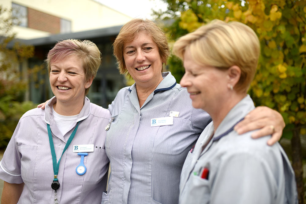 Day Hospice nurses Lisa Ingall, Ann-Walker, Mary-Kimber